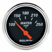 Water Temp Gauges - Electric Water Temp Gauges - Auto Meter - Auto Meter Designer Black Water Temperature Gauge - 2-1/16""