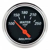 "Water Temp Gauges - Electric Water Temp Gauges - Auto Meter - Auto Meter Designer Black Water Temperature Gauge - 2-1/16"""