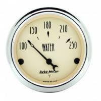 Water Temp Gauges - Electric Water Temp Gauges - Auto Meter - Auto Meter Antique Beige Water Temperature Gauge - 2-1/16""