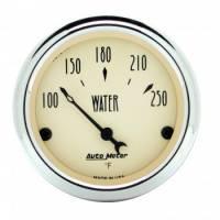 """Water Temp Gauges - Electric Water Temp Gauges - Auto Meter - Auto Meter Antique Beige Water Temperature Gauge - 2-1/16"""""""