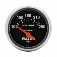 "Water Temp Gauges - Electric Water Temp Gauges - Auto Meter - Auto Meter 2-1/16"" Mini Sport-Comp Electric Water Temperature Gauge - 100°-250°"