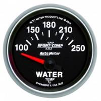 "Water Temp Gauges - Electric Water Temp Gauges - Auto Meter - Auto Meter 2-1/16"" Sport-Comp II Electric Water Temperature Gauge - 100-250°"