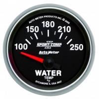 """Gauges - Water Temp Gauges - Auto Meter - Auto Meter 2-1/16"""" Sport-Comp II Electric Water Temperature Gauge - 100-250°"""