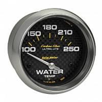 "Water Temp Gauges - Electric Water Temp Gauges - Auto Meter - Auto Meter Carbon Fiber Electric Water Temperature Gauge - 2-5/8"" - 100°-250° F"