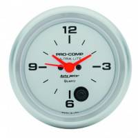 Analog Gauges - Clocks - Auto Meter - Auto Meter Ultra-Lite Clock - 2-5/8 in.