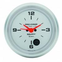 Gauges - Clocks - Auto Meter - Auto Meter Ultra-Lite Clock - 2-5/8 in.