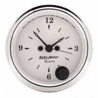 Gauges - Clocks - Auto Meter - Auto Meter Old Tyme White Clock - 2-1/16 in.