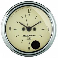 Analog Gauges - Clocks - Auto Meter - Auto Meter Antique Beige Clock - 2-1/16 in.