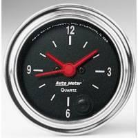 Gauges - Clocks - Auto Meter - Auto Meter Traditional Chrome Clock - 2-1/16 in.