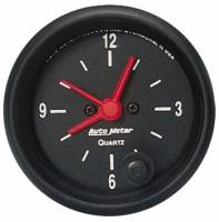 Gauges - Clocks - Auto Meter - Auto Meter Z-Series Clock - 2-1/16 in.