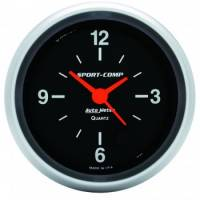 Analog Gauges - Clocks - Auto Meter - Auto Meter Sport-Comp Clock - 2-5/8 in.