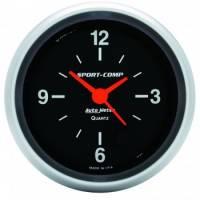 Gauges - Clocks - Auto Meter - Auto Meter Sport-Comp Clock - 2-5/8 in.