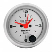 Analog Gauges - Clocks - Auto Meter - Auto Meter Ultra-Lite Clock - 2-1/16 in.