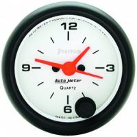Analog Gauges - Clocks - Auto Meter - Auto Meter Phantom Clock - 2-1/16 in.