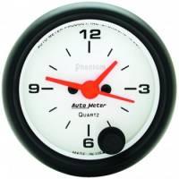 Gauges - Clocks - Auto Meter - Auto Meter Phantom Clock - 2-1/16 in.