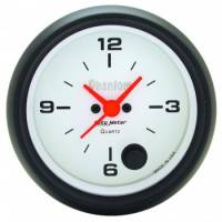 Analog Gauges - Clocks - Auto Meter - Auto Meter Phantom Clock - 2-5/8 in.