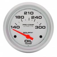 "Oil Temp Gauges - Electric Oil Temp Gauges - Auto Meter - Auto Meter Ultra-Lite Electric Oil Temperature Gauge - 2-5/8"" - 140°-300° F"