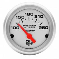 "Analog Gauges - Oil Temperature Gauges - Auto Meter - Auto Meter Mini Ultra-Lite Electric Oil Temperature Gauge - 2-1/16"" - 100-250 F"