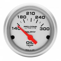 "Analog Gauges - Oil Temperature Gauges - Auto Meter - Auto Meter Mini Ultra-Lite Electric Oil Temperature Gauge - 2-1/16"" - 140 - 300 Deg. F"