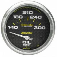 "Analog Gauges - Oil Temperature Gauges - Auto Meter - Auto Meter Carbon Fiber Oil Temperature Gauge - 2-5/8"" - 140°-300° F"