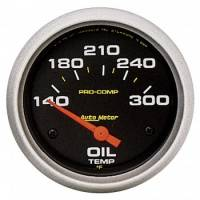"Oil Temp Gauges - Electric Oil Temp Gauges - Auto Meter - Auto Meter Pro-Comp Electric Oil Temperature Gauge - 2-5/8"" - 140°-300°"