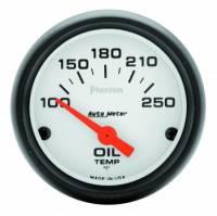 """Analog Gauges - Oil Temperature Gauges - Auto Meter - Auto Meter Phantom Electric Oil Temperature Gauge - 2-1/16"""" - 100°-250°"""