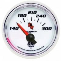 Analog Gauges - Oil Temperature Gauges - Auto Meter - Auto Meter C2 Electric Oil Temperature Gauge - 2-1/16""