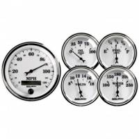 Gauge Kits - Analog Gauge Kits - Auto Meter - Auto Meter Old Tyme White II Street Rod Kit - 2-1/16 in.