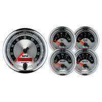 Gauges & Dash Panels - Gauge Kits - Analog - Auto Meter - Auto Meter American Muscle Street Rod Kit - 3-3/8 in.