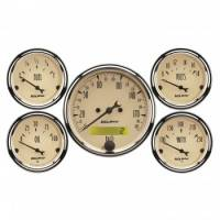 Gauge Kits - Analog Gauge Kits - Auto Meter - Auto Meter A/B 5 Piece Gauge Kit w/ Electric Speedometer- Metric