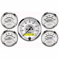 Gauge Kits - Analog Gauge Kits - Auto Meter - Auto Meter Ford Racing Series 5 Gauge Set - Fuel/Oil/Speedo/Volt/Water 5 in.
