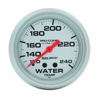 "Gauges & Gauge Panels - Water Temperature Gauges - Auto Meter - Auto Meter Ultra-Lite Water Temperature Gauge - 2-5/8"" - 120-240"