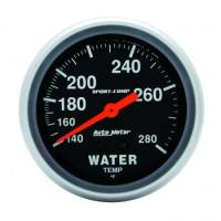 Analog Gauges - Water Temperature Gauges - Auto Meter - Auto Meter 100-280  Sport-Comp Water Temperature Gauge - 2-5/8""