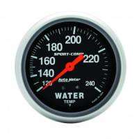 Water Temp Gauges - Mechanical Water Temp Gauges - Auto Meter - Auto Meter 100-240°  Sport-Comp Water Temperature Gauge - 2-5/8""