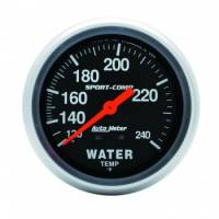Analog Gauges - Water Temperature Gauges - Auto Meter - Auto Meter 100-240°  Sport-Comp Water Temperature Gauge - 2-5/8""