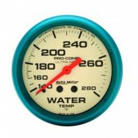 "Gauges & Gauge Panels - Water Temperature Gauges - Auto Meter - Auto Meter Ultra-Nite Water Temperature Gauge - 2-5/8"" - 140°-280°"