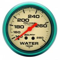 "Gauges & Gauge Panels - Water Temperature Gauges - Auto Meter - Auto Meter Ultra-Nite Water Temperature Gauge - 2-5/8"" - 140-280"