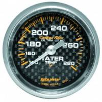 "Water Temp Gauges - Mechanical Water Temp Gauges - Auto Meter - Auto Meter Carbon Fiber Water Temperature Gauge - 2-1/16"" - 140°-280° F"