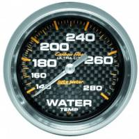 "Water Temp Gauges - Mechanical Water Temp Gauges - Auto Meter - Auto Meter Carbon Fiber Water Temperature Gauge - 2-5/8"" - 140°-280° F"