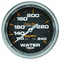 "Water Temp Gauges - Mechanical Water Temp Gauges - Auto Meter - Auto Meter Carbon Fiber Water Temperature Gauge - 2-5/8"" - 120°-240° F"