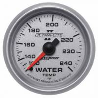 "Gauges - Water Temp Gauges - Auto Meter - Auto Meter 2-1/16"" Ultra-Lite II Water Temperature Gauge - 120-240°"