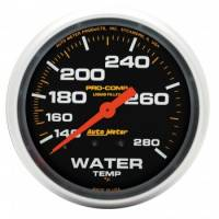 "Gauges & Gauge Panels - Water Temperature Gauges - Auto Meter - Auto Meter Pro-Comp Liquid Filled Water Temperature Gauge - 2-5/8"" - 140°-280°"