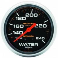 "Gauges & Gauge Panels - Water Temperature Gauges - Auto Meter - Auto Meter Pro-Comp Liquid Filled Water Temperature Gauge - 2-5/8"" - 120-240"