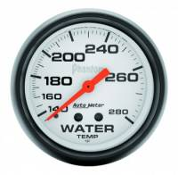 "Gauges & Gauge Panels - Water Temperature Gauges - Auto Meter - Auto Meter Phantom Water Temperature Gauge - 2-5/8"" - 140°-280°"