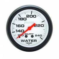 "Gauges & Gauge Panels - Water Temperature Gauges - Auto Meter - Auto Meter Phantom Water Temperature Gauge - 2-5/8"" - 120-240"