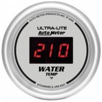 Digital Gauges - Digital Water Temperature Gauges - Auto Meter - Auto Meter Ultra-Lite Digital Water Temperature Gauge - 2-1/16 in.