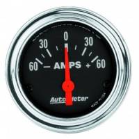 Analog Gauges - Ammeter Gauges - Auto Meter - Auto Meter Traditional Chrome Electric Ampmeter Gauge - 2-1/16""