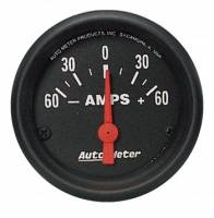 Analog Gauges - Ammeter Gauges - Auto Meter - Auto Meter Z-Series Electric Ammeter Gauge - 2-1/16""