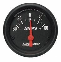 "Gauges - Ammeter Gauges - Auto Meter - Auto Meter Z-Series Electric Ammeter Gauge - 2-1/16"""