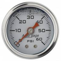 Fuel Pressure Gauges - Mechanical Fuel Pressure Gauges - Auto Meter - Auto Gage Fuel Pressure Gauge - 1-1/2""